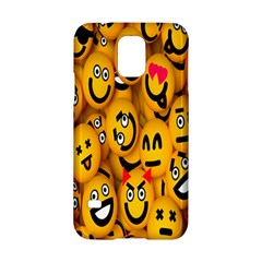 Smileys Linus Face Mask Cute Yellow Samsung Galaxy S5 Hardshell Case  by Mariart