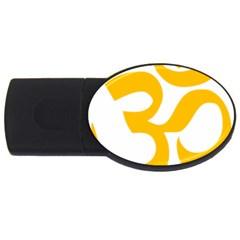 Hindu Om Symbol (gold) Usb Flash Drive Oval (2 Gb) by abbeyz71