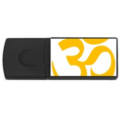 Hindu Om Symbol (gold) Usb Flash Drive Rectangular (4 Gb) by abbeyz71