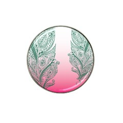 Toggle The Widget Bar Leaf Green Pink Hat Clip Ball Marker by Mariart