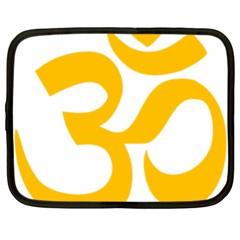 Hindu Om Symbol (gold) Netbook Case (xl)  by abbeyz71