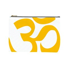 Hindu Om Symbol (gold) Cosmetic Bag (large)  by abbeyz71