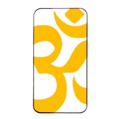 Hindu Om Symbol (gold) Apple Iphone 4/4s Seamless Case (black) by abbeyz71
