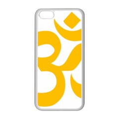 Hindu Om Symbol (gold) Apple Iphone 5c Seamless Case (white) by abbeyz71