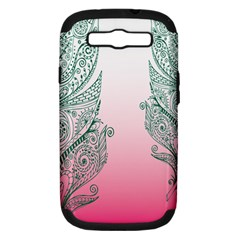 Toggle The Widget Bar Leaf Green Pink Samsung Galaxy S Iii Hardshell Case (pc+silicone) by Mariart