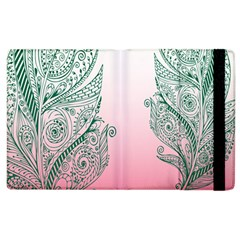Toggle The Widget Bar Leaf Green Pink Apple Ipad 2 Flip Case by Mariart