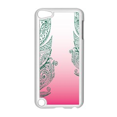 Toggle The Widget Bar Leaf Green Pink Apple Ipod Touch 5 Case (white) by Mariart