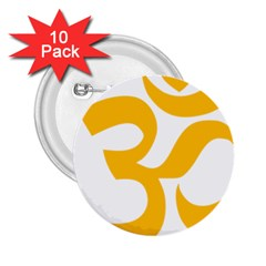 Hindu Gold Symbol (gold) 2 25  Buttons (10 Pack)  by abbeyz71