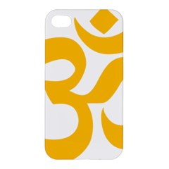 Hindu Gold Symbol (gold) Apple Iphone 4/4s Hardshell Case by abbeyz71