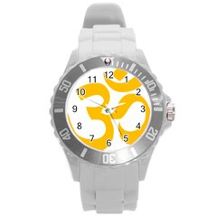 Hindu Gold Symbol (gold) Round Plastic Sport Watch (l) by abbeyz71