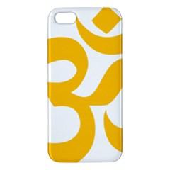 Hindu Gold Symbol (gold) Apple Iphone 5 Premium Hardshell Case by abbeyz71