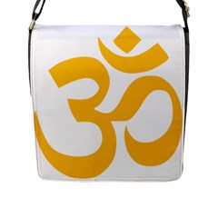 Hindu Gold Symbol (gold) Flap Messenger Bag (l)  by abbeyz71