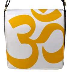 Hindu Gold Symbol (gold) Flap Messenger Bag (s) by abbeyz71