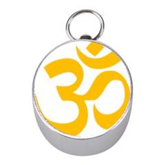 Hindu Gold Symbol (gold) Mini Silver Compasses by abbeyz71