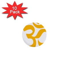 Aum Om Gold 1  Mini Buttons (10 Pack)  by abbeyz71