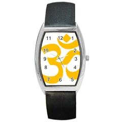 Aum Om Gold Barrel Style Metal Watch by abbeyz71