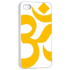 Aum Om Gold Apple Iphone 4/4s Seamless Case (white) by abbeyz71