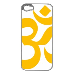 Aum Om Gold Apple Iphone 5 Case (silver) by abbeyz71