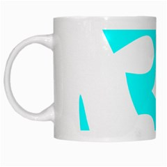Aum Om Cyan White Mugs by abbeyz71