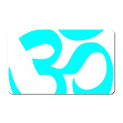 Aum Om Cyan Magnet (rectangular) by abbeyz71