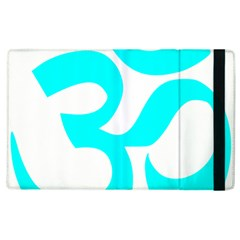 Aum Om Cyan Apple Ipad 3/4 Flip Case by abbeyz71