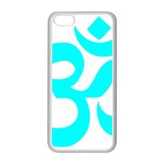 Aum Om Cyan Apple Iphone 5c Seamless Case (white) by abbeyz71