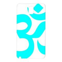 Aum Om Cyan Samsung Galaxy Note 3 N9005 Hardshell Back Case by abbeyz71