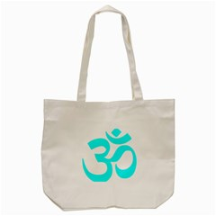 Aum Om Cyan Tote Bag (cream) by abbeyz71