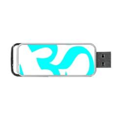 Aum Om Cyan Portable Usb Flash (two Sides) by abbeyz71