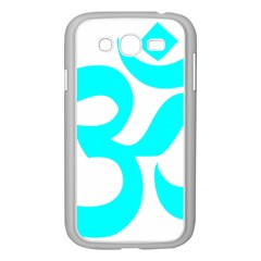 Aum Om Cyan Samsung Galaxy Grand Duos I9082 Case (white) by abbeyz71