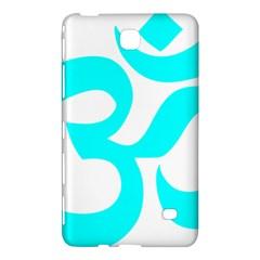 Aum Om Cyan Samsung Galaxy Tab 4 (8 ) Hardshell Case  by abbeyz71