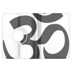 Hindu Om Symbol (dark Gray)  Kindle Fire Hdx Flip 360 Case by abbeyz71