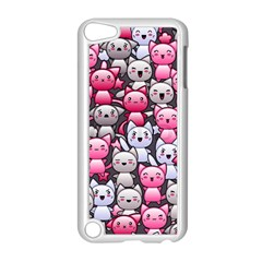 Cute Doodle Wallpaper Cute Kawaii Doodle Cats Apple Ipod Touch 5 Case (white)