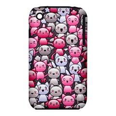 Cute Doodle Wallpaper Cute Kawaii Doodle Cats Iphone 3s/3gs by Nexatart