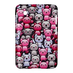 Cute Doodle Wallpaper Cute Kawaii Doodle Cats Samsung Galaxy Tab 2 (7 ) P3100 Hardshell Case