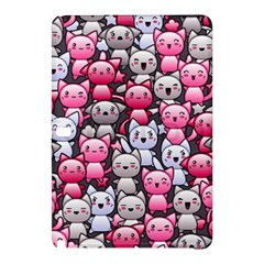 Cute Doodle Wallpaper Cute Kawaii Doodle Cats Samsung Galaxy Tab Pro 10 1 Hardshell Case