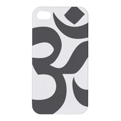Hindu Om Symbol (dark Gray)  Apple Iphone 4/4s Premium Hardshell Case by abbeyz71