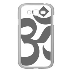 Hindu Om Symbol (dark Gray)  Samsung Galaxy Grand Duos I9082 Case (white) by abbeyz71