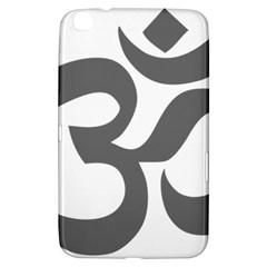 Hindu Om Symbol (dark Gray)  Samsung Galaxy Tab 3 (8 ) T3100 Hardshell Case  by abbeyz71