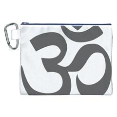 Hindu Om Symbol (dark Gray)  Canvas Cosmetic Bag (xxl) by abbeyz71