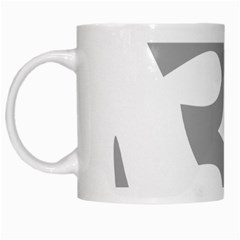 Hindu Om Symbol (light Gray) White Mugs by abbeyz71