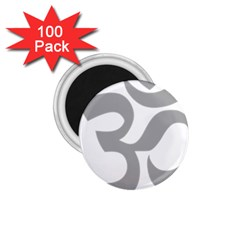 Hindu Om Symbol (light Gray) 1 75  Magnets (100 Pack)  by abbeyz71