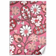 Pink Flower Pattern Canvas 20  X 30