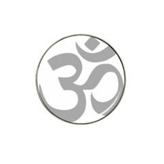 Hindu Om Symbol (light Gray) Hat Clip Ball Marker by abbeyz71