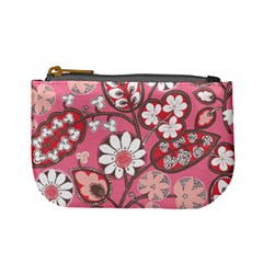 Pink Flower Pattern Mini Coin Purses