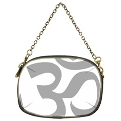 Hindu Om Symbol (light Gray) Chain Purses (one Side)  by abbeyz71