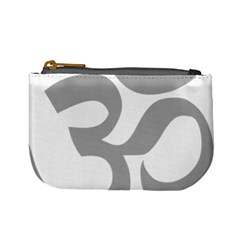 Hindu Om Symbol (light Gray) Mini Coin Purses by abbeyz71