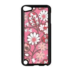 Pink Flower Pattern Apple Ipod Touch 5 Case (black)