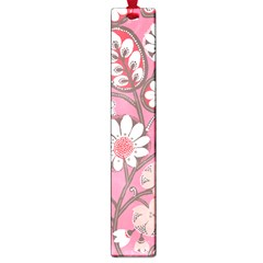 Pink Flower Pattern Large Book Marks by Nexatart