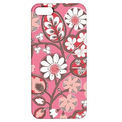 Pink Flower Pattern Apple Iphone 5 Hardshell Case With Stand